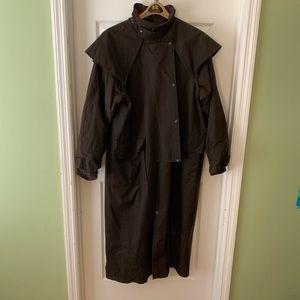 Men's XL DRIZABONE Oilskin Riding Coat.